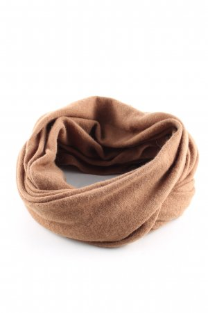 Hallhuber Bufanda de lana marrón estilo «business»
