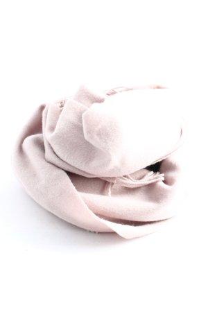 Hallhuber Bufanda de lana rosa estilo «business»