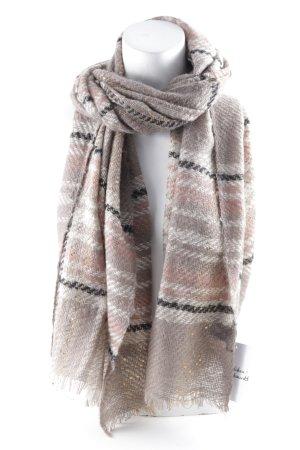 Hallhuber Wollen sjaal geruite print casual uitstraling