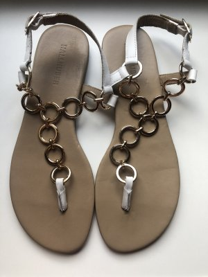 Hallhuber Toe-Post sandals multicolored leather