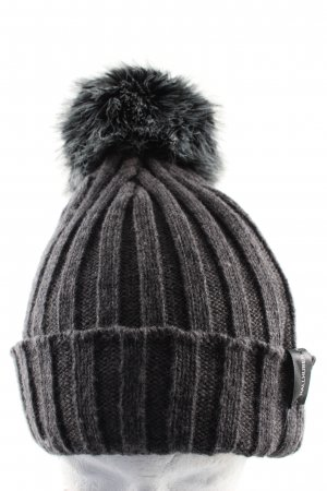 Hallhuber Pointed Hat light grey-black flecked casual look