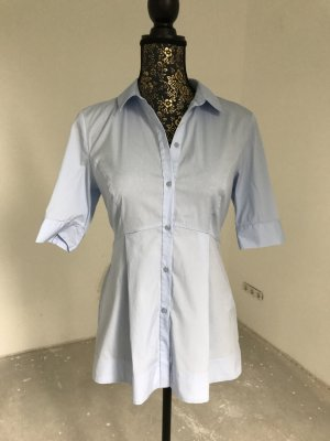 Hallhuber Blusa-camisa azul claro