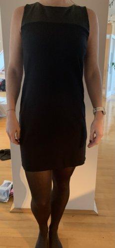 Hallhuberkleid mit Ledereinsatz