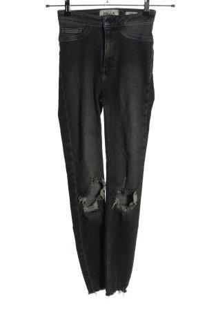 Hallie Jeans stretch noir style décontracté