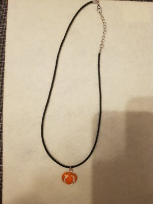 Bid Handmade Collana nero-arancione