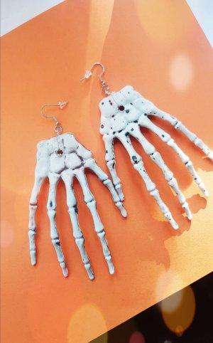 Halloween Skelett Ohrringe 925 Sterling Silber