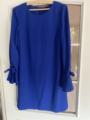 Hallhuber Robe bustier bleu soie