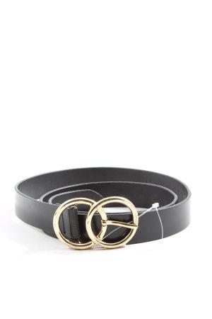 Halogen Leather Belt black casual look