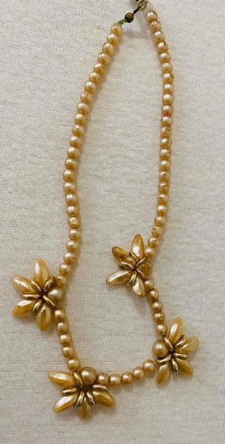Vintage Collar de perlas multicolor