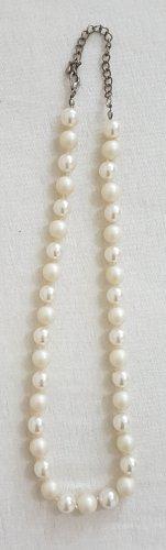 Vintage Collier de perles blanc-blanc cassé