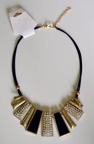 Halsband schwarz, 11 Anhänger,