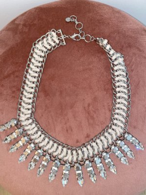 Necklace pink-silver-colored