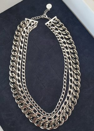 Pippa & Jean Statement Necklace silver-colored-anthracite