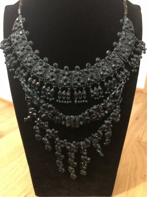 Collier Necklace petrol-black