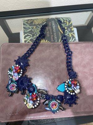 Zara Colliers ras du cou bleu
