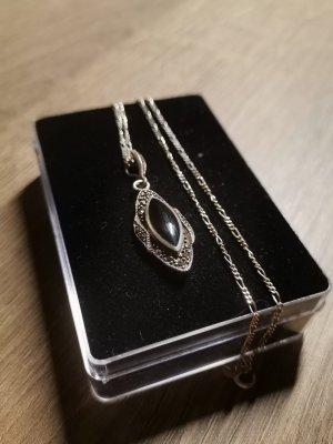 Collana nero-argento Argento
