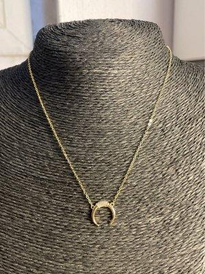 Halskette 925 Silber vergoldet Mond