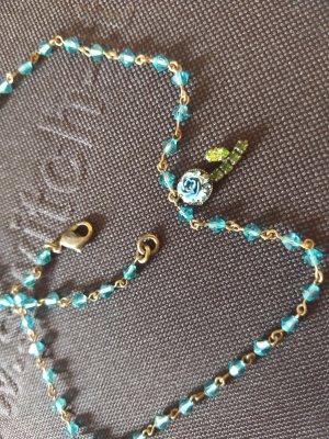 Collar color bronce-azul neón