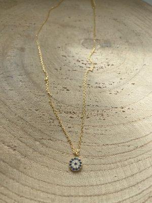Silver Złoty łańcuch złoto-niebieski