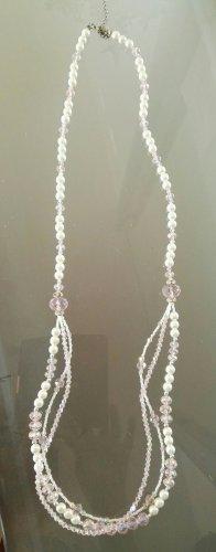 Collana di perle bianco sporco-rosa chiaro
