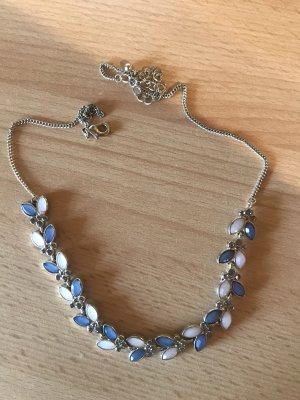 Halskette Blümchen Silber