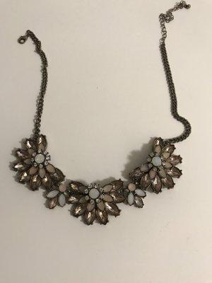 Halskette Blumen Kristalle