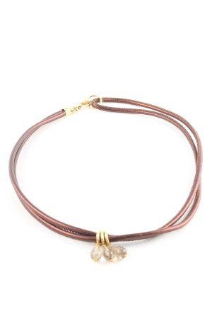 Halskette braun-goldfarben Casual-Look