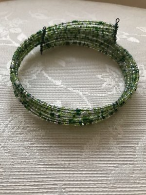 Necklace green-lime-green