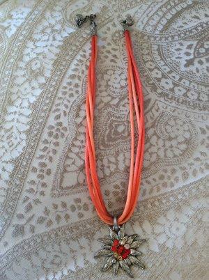 Collier argenté-orange