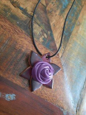 Necklace lilac-grey violet