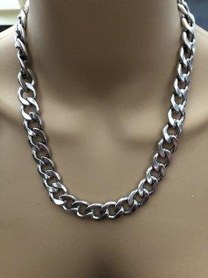 Halskette Gliederkette 50cm Silber Neu