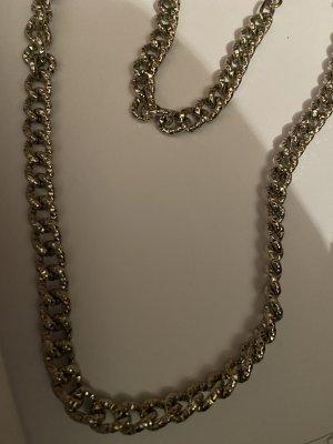 Naszyjnik szary-srebrny