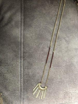 Halskette gold braunrot