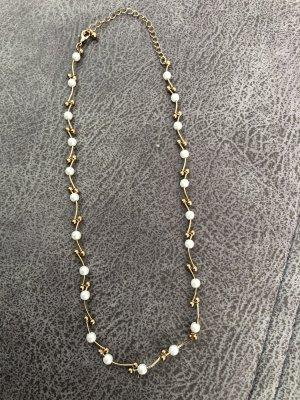 Halskette Gold mit Perlen