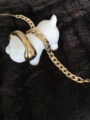 Zdobiony naszyjnik biały-złoto