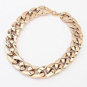 Halskette goldfarben, Länge 39 cm verstellbar, Breite 2 cm, Stärke 0,5 cm,