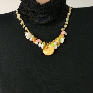 Unbekannte Marke Collier multicolore tissu mixte