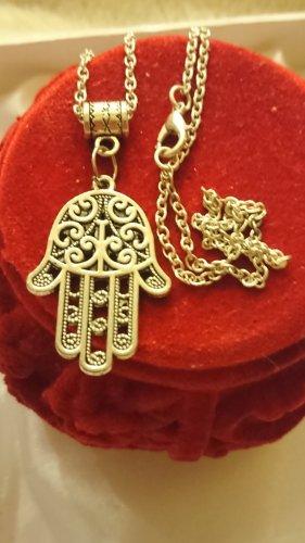 Halskette Hand de Fatima tibetanische Silber