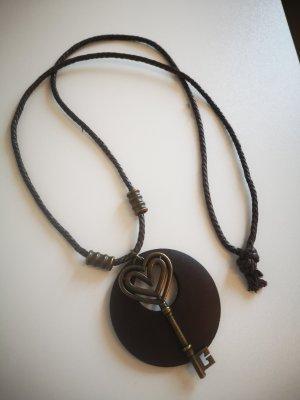 Halskette Holz