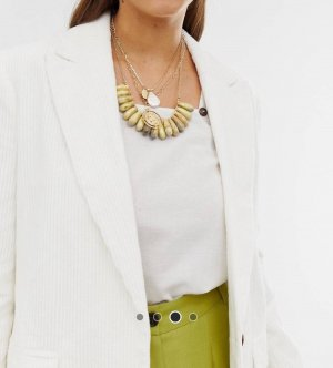 Asos Gold Chain gold-colored-olive green
