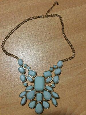 Statement Necklace turquoise-mint mixture fibre