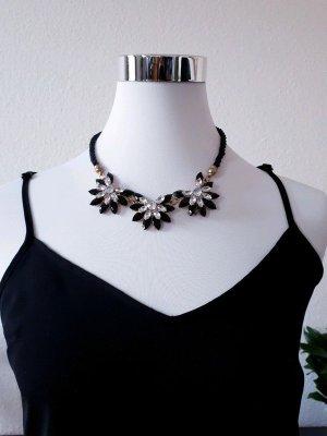 Halskette Kristallblumen Kordel