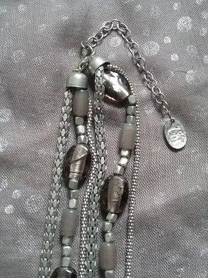 Halskette lang mit Glasperlen