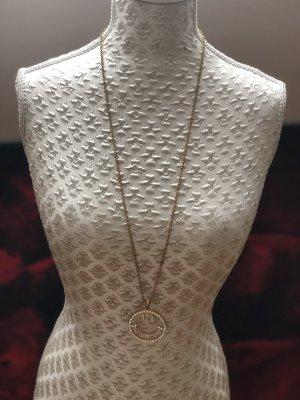 Halskette lang mit Kristallsteinen
