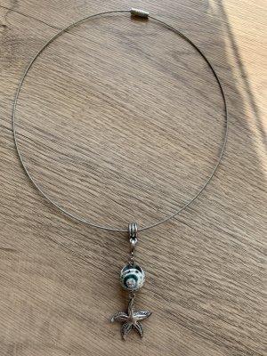 Handmade Collier gris clair-gris vert