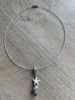 Handmade Collier gris clair