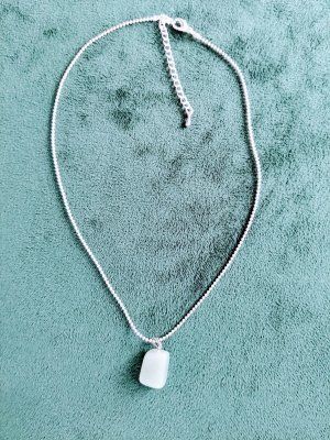Necklace silver-colored-sage green