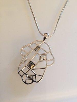 Zilveren ketting zilver-antraciet