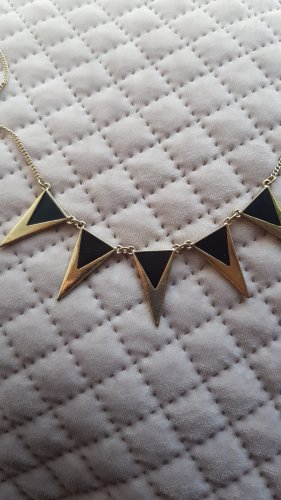 Claires Necklace black-gold-colored