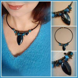Collana nero-blu